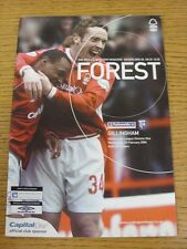 25/02/2004 Nottingham Forest v Gillingham  (the item is in good/very good condit