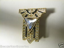 Art Deco stunning triangle neo Egyptian revival unique brooch pin UNUSUAL ID IT!