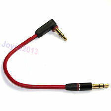 0.5ft Red Right Angle Short 3.5mm Male to 3.5mm Male Stereo AUX Audio Cable 15cm