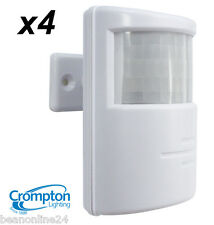4 x Crompton PIR Motion Sensor - for Outdoor Security Lights / Floodlights WHITE