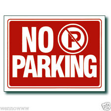 "2 Pcs 9 x 12 Inch Red & White Flexible Plastic "" No Parking "" Sign"