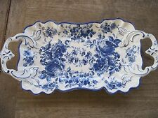 """SSF Made Japan Porcelain Delft Serving Dish, 6 1/2"""" x 13 3/4""""long"""