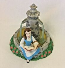 """Disney Beauty and the Beast """"Belle Sitting by Fountain"""" Ceramic Figure"""