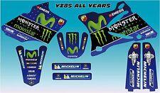 Yamaha YZ 85 Movistar Monster Rossi style kit 2002 - 2014 FREE UK POSTAGE