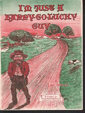 I'm Just a Happy Go Lucky Guy 1921 Sheet Music