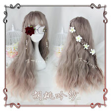 Japanese Harajuku Gothic Lolita Gray Gradient Cosplay Daily Fairy Long Curly Wig