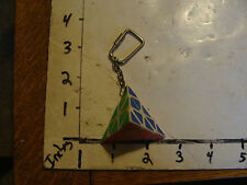 Vintage Puzzle: rubic's TRIANGE key chain puzzle, 1980's a bit dirty