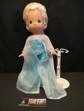 """Disney Parks Authentic Elsa 12"""" tall Precious Moments Doll w/ stand Frozen"""