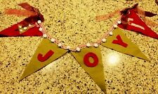 Joy Garland Christmas Garland Decoration Hanging Deco Tree Wreath Accent