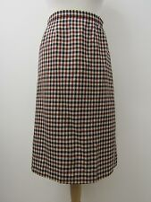 """Gorgeous Pure Wool Checked Skirt by Aquascutum Size 10 W30"""""""