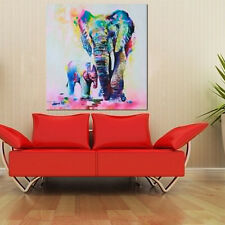 Modern Abstract Huge Wall Art Oil Painting On Canvas-Elephant Home Decoration