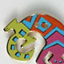Button – Lizard - 28mm - Retired Laurel Burch Enamel On Metal