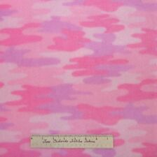 "Fleece Fabric - Pink Purple Camo Camouflage - Windham Velour Anti-Pill 60"" YARD"