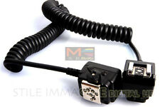 CABLE TTL FOR FLASH NIKON 3 METRES SPIRAL FOR SB 900 700 600 400
