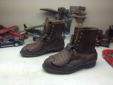 HY-TEST METATARSAL USA BROWN LEATHER LACE UP ENGINEER BOSS WORK BOOTS 12.5 3E