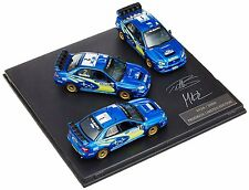 Prodrive 1/43 Subaru Impreza WRC 3 Cars Set with Flag Diecast Model Car F/S