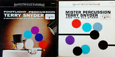 TERRY SNYDER & ALL STARS -  FOOTLIGHT PERCUSSION & MR. PERCUSSION  - 2 LP LOT