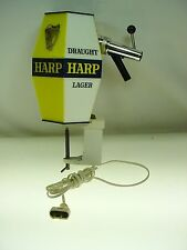 VINTAGE HARP DRAFT BEER ADVERTISING COUNTER MOUNT LIGHTED BEER TAP TAPPER - RARE