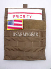 USMC Army Coyote Side Plate Carrier Pocket Utility Molle Admin Armor Pouch USGI