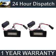 2x Para Vw Touran Touareg Sharan Aluminio 18 Led Blanco de la placa de lámparas
