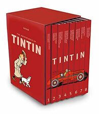 The Complete Adventures of Tintin Collection 8 Books Box Gift Set by Her