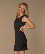 NWT DKNY ALL OCCASION BLACK PLEATED SLEEVELESS Dress 8  MSRP $345! NEIMAN MARCUS