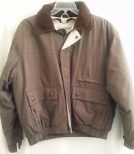 MENS ABERDEEN COLLECTION Solid Brown Khaki Olive Jacket Size L Large