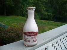 Birch-Mar Dairy Products Red Paint Rd Quart Milk Bottle Blue Ball Lancaster Pa