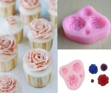Silicone Rose Cup Cake Chocolate Cupcake Muffin Mold Jelly Maker Bake Mould-LJ