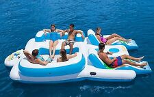 Tropical Tahiti Floating Island 6 Person Party Pool Lake River Huge Float Raft