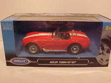 1965 Shelby Cobra 427 S/C Roadster Die-cast Car 1:24 Red by Welly 7 inch