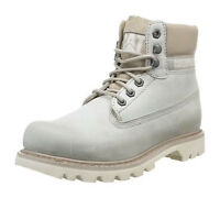 Mens CAT Caterpillar Colorado Light Grey Leather Ankle Fashion Boots Size 13 UK