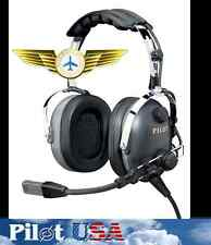 NEW IN BOX PILOT USA AVIATION HEADSET 3 YR WARRANTY Noise Canceling Electret