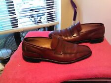 RARE George's HANDMADE Leather Cordovan Sz 10 Loafer Dress Shoe Made in Spain