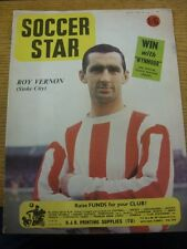 09/08/1968 Soccer Star Magazine: Cover Images Of Roy Vernon, Stoke City [Front]