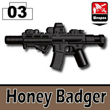 SHB (W193) Assault Rifle Honey Badger M4 compatible with toy brick minifigures