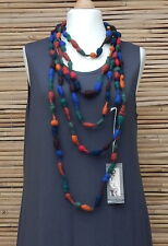 ZUZA BART*DESIGN AMAZING EXCLUSIVE HAND MADE WOOL QUIRKY NECKLACE*MULTI-COLOUR*