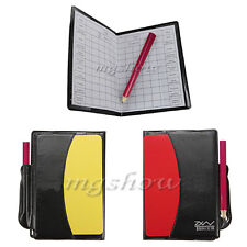 Sport Football Soccer Referee Wallet Notebook with Pencil Red and Yellow Card