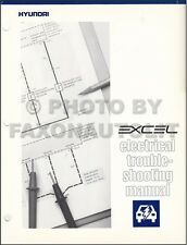 1990-1991 Hyundai Excel Electrical Troubleshooting Manual Wiring Diagrams OEM