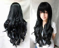 New Fashion Cute Women Girls 9 Colors Long Curly  Full Hair Wigs cosplay party