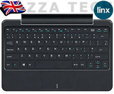 "Linx 1010 Genuine UK QWERTY Keyboard Dock Black with Touch Pad 10"" inch Tablet"