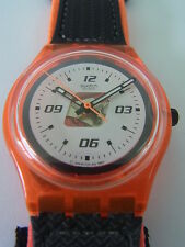 SKO100 Swatch - 1998 Access Ski Patrol Orange Snowpass Swiss Made Authentic