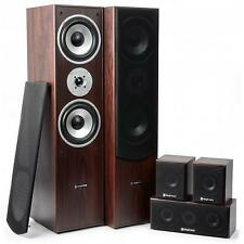 New Skytronic 5.0 Walnut Surround Sound Home Cinema Hi fi Speakers System 1150W