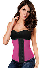 Hot Pink Latex Waist Trainer Cincher Corset Sweat Belt Lingerie Small S 5375