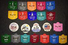 #4 LOT 22 NJ NEW JERSEY SHORE BEACH BADGE TAG HARVEY CEDARS OC SEASONAL LBI 2012