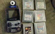 Nintendo Game Boy Color Atomic Purple with Camera and 6 games