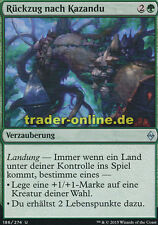 2x Rückzug nach Kazandu (Retreat to Kazandu) Battle for Zendikar Magic