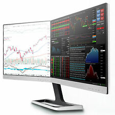 """PHILIPS 19DP6Q Dual Monitor IPS 2560x1024 19""""x2 32"""" with MHL Port Perfect Pixel"""