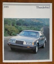 FORD THUNDERBIRD orig 1985 USA Mkt Sales Brochure Catalogue