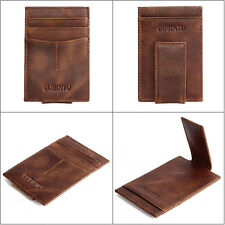 Men Leather Magic Wallet slim money clip credit card holder ID business Purse